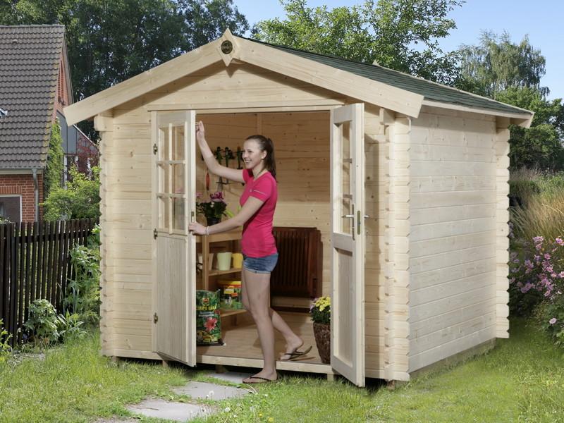 Gartenhaus Holz Konfigurator ~ Gartenhaus WEKA «Gartenhaus 209» Gerätehaus Holz Haus Bausatz mit