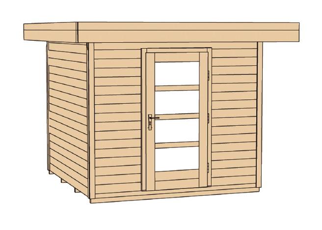 gartenhaus flachdach weka typ 172 mit einzelt r gr e 2 lounge. Black Bedroom Furniture Sets. Home Design Ideas