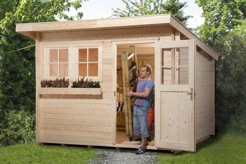 gartenhaus weka gartenhaus 116 holz haus bausatz. Black Bedroom Furniture Sets. Home Design Ideas