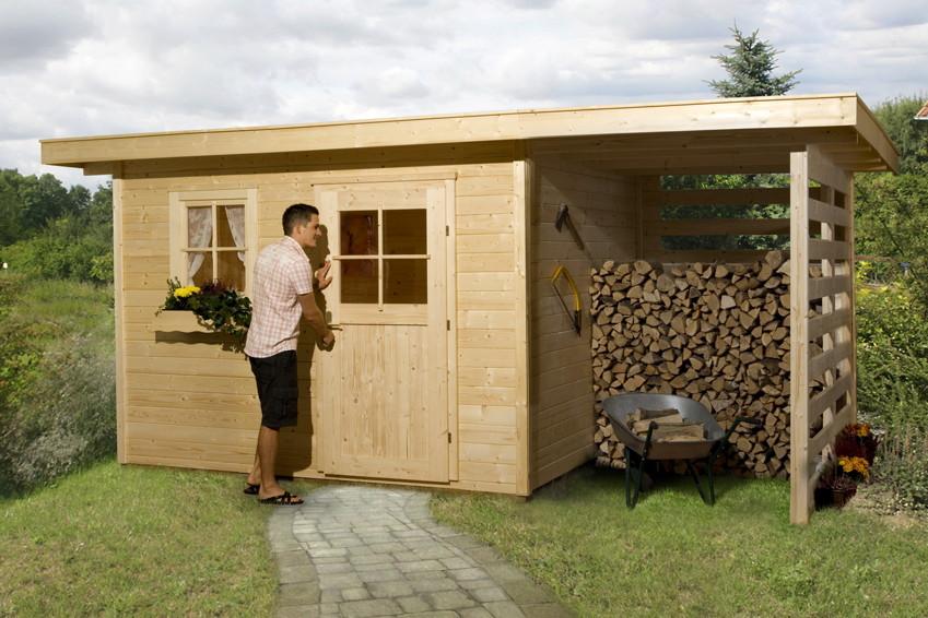 Gartenhaus Holz Konfigurator ~ Gartenhaus WEKA «Gartenhaus 170» Holz Haus Bausatz Holzlagerplatz