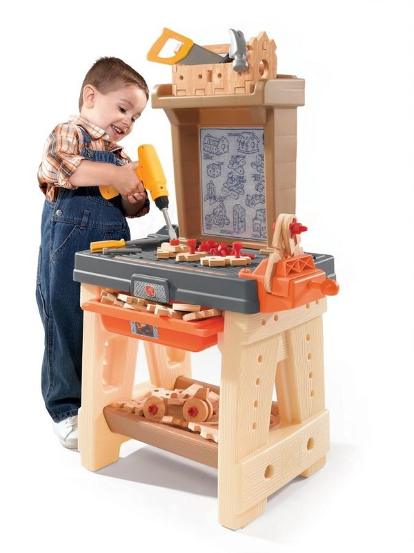 werkstatt step 2 werkbank kunststoff kinderspielger te. Black Bedroom Furniture Sets. Home Design Ideas