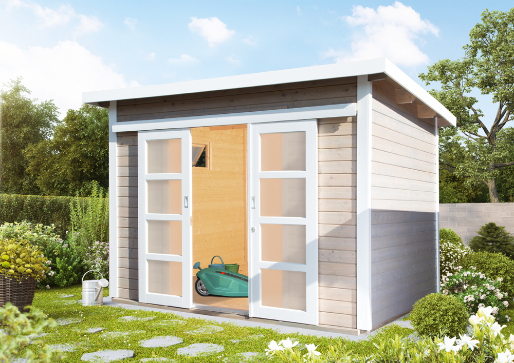 gartenhaus-flachdach-300x300-cm-holz-haus-bausatz-mit-schiebetur-kippfenster