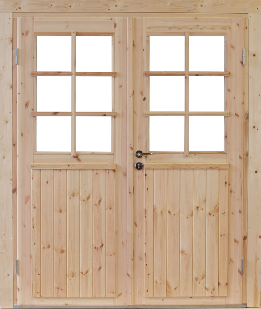 doppel t r hero holz nachr stelement f r gartenh user holzh user nebeneingangt r vom garten. Black Bedroom Furniture Sets. Home Design Ideas